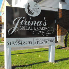 Jirina's Bridal Ground Sign