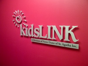 Kids Link interior sign