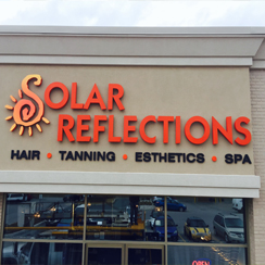 Solar Reflections Salon channel letters