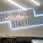 image of the Aunty's Kitchen interior sign lit