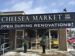 Chelsea Market banner and individual cut letters
