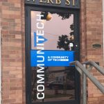 image of the Communitech Data Hub Door