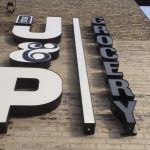image of the J&P Grocery Channel Letter Sign