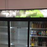 image of the J&P Grocery fridge graphics