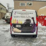 image of the Rear of the Thunderstorm Productions Vehicle Wrap