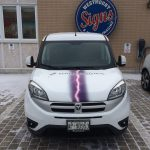 image of the Hood of the Thunderstorm Productions Vehicle Wrap
