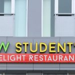image of The Channel Letters Sign for KW Student's Delight Restaurant
