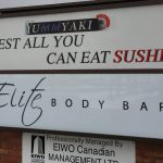 image of the Pylon Sign for Elite Body Bar