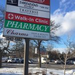 image of the Pylon Sign for Walk-in Clinic