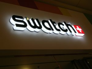 image of the interior swatch channel letter sign
