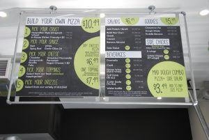 image of Urban Bricks Pizza Co. menu board