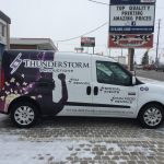 image of the Right Side of the Thunderstorm Productions Vehicle Wrap